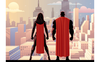 Superhero Couple Watch Day