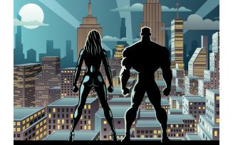 Superhero Couple Watch Night 2