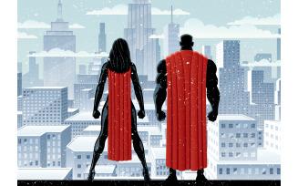 Superhero Couple Watch Winter