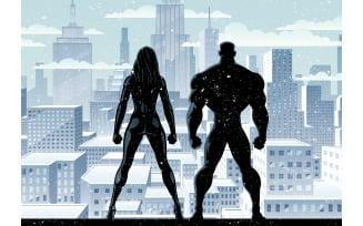 Superhero Couple Watch Winter 2