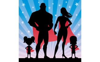 Superhero Family Girls