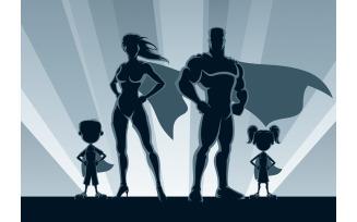 Superhero Family Silhouettes