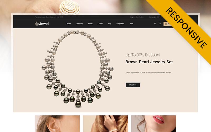 """Jewel - Diamond Jewellery Store"" 响应式PrestaShop模板 #152643"