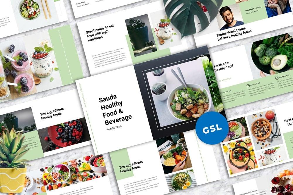 """""""Sauda-  Food & Beverages Google Slides"""" Google Slides №152650"""