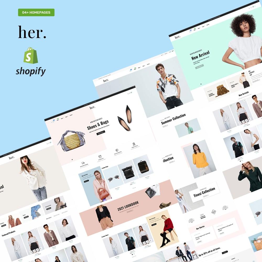 "Shopify motiv ""Her Fashion Store - Responsive"" #152638"