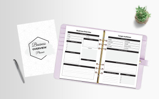 Business Overview Planner - Corporate Identity Template