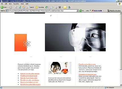 Page d'accueil HTML du kit graphique #15345