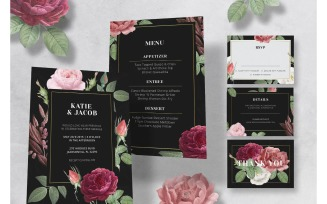 Wedding Invitation Rose Theme