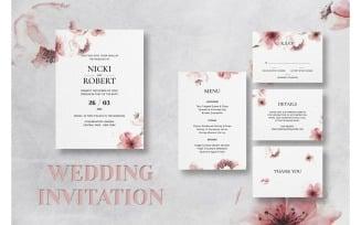 Wedding Invitation Botanical Flower