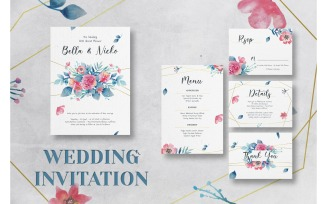 Wedding Invitation Flower of Happines