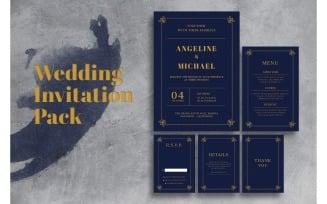 Wedding Invitation Maroon Blue