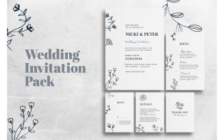 Wedding Invitation Flower of Paradise