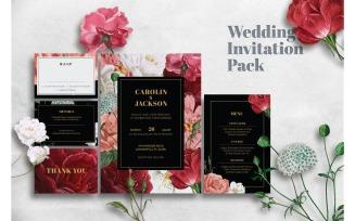 Wedding Invitation Rose of Paradise