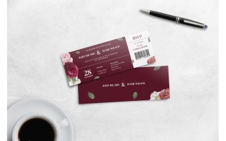 Boarding Pass Red Rose