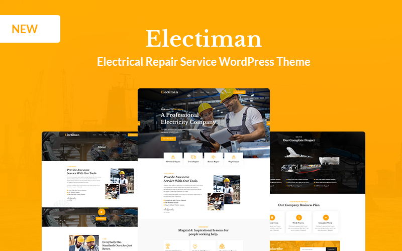 Reszponzív Electiman -  Electrical Repair Service WordPress sablon 153399