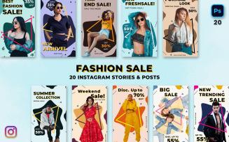 Fashion Sale Instagram Stories & Posts
