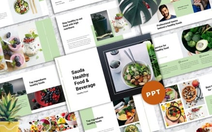 Sauda- Food & Beverages PowerPoint Template