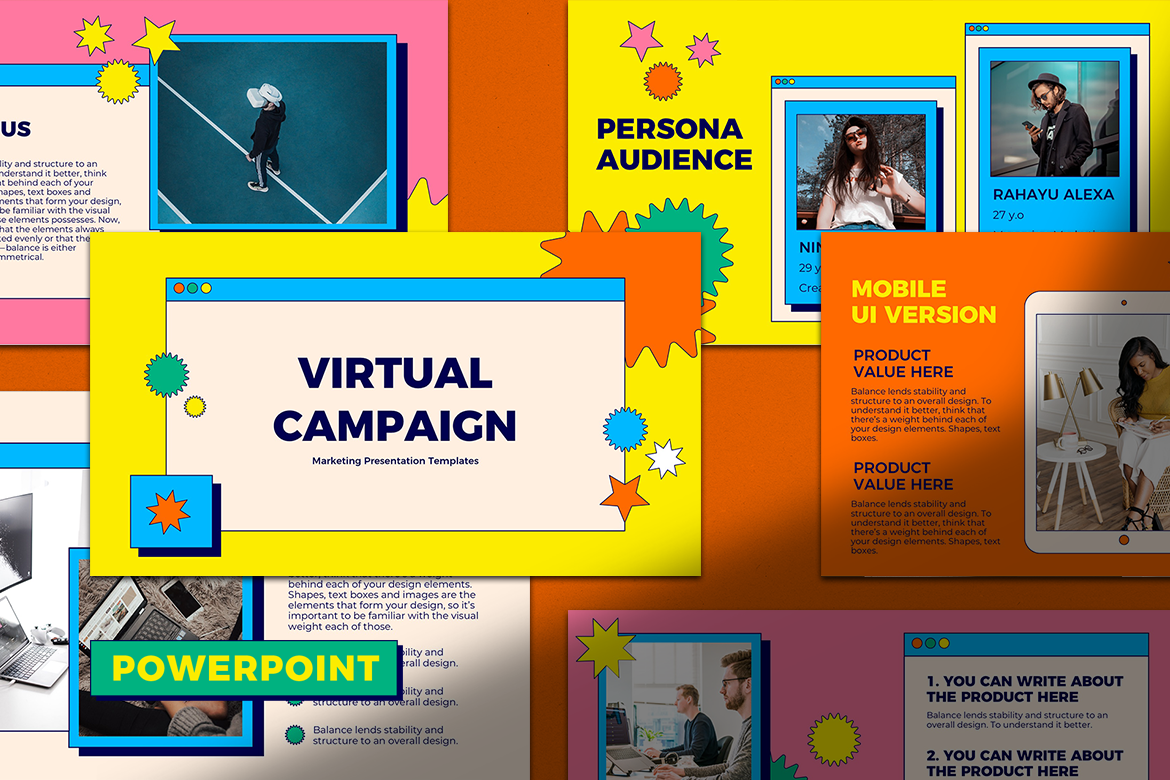 Virtual Campaign  Presentation PowerPoint Template