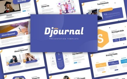 Djournal Education Presentation PowerPoint Template