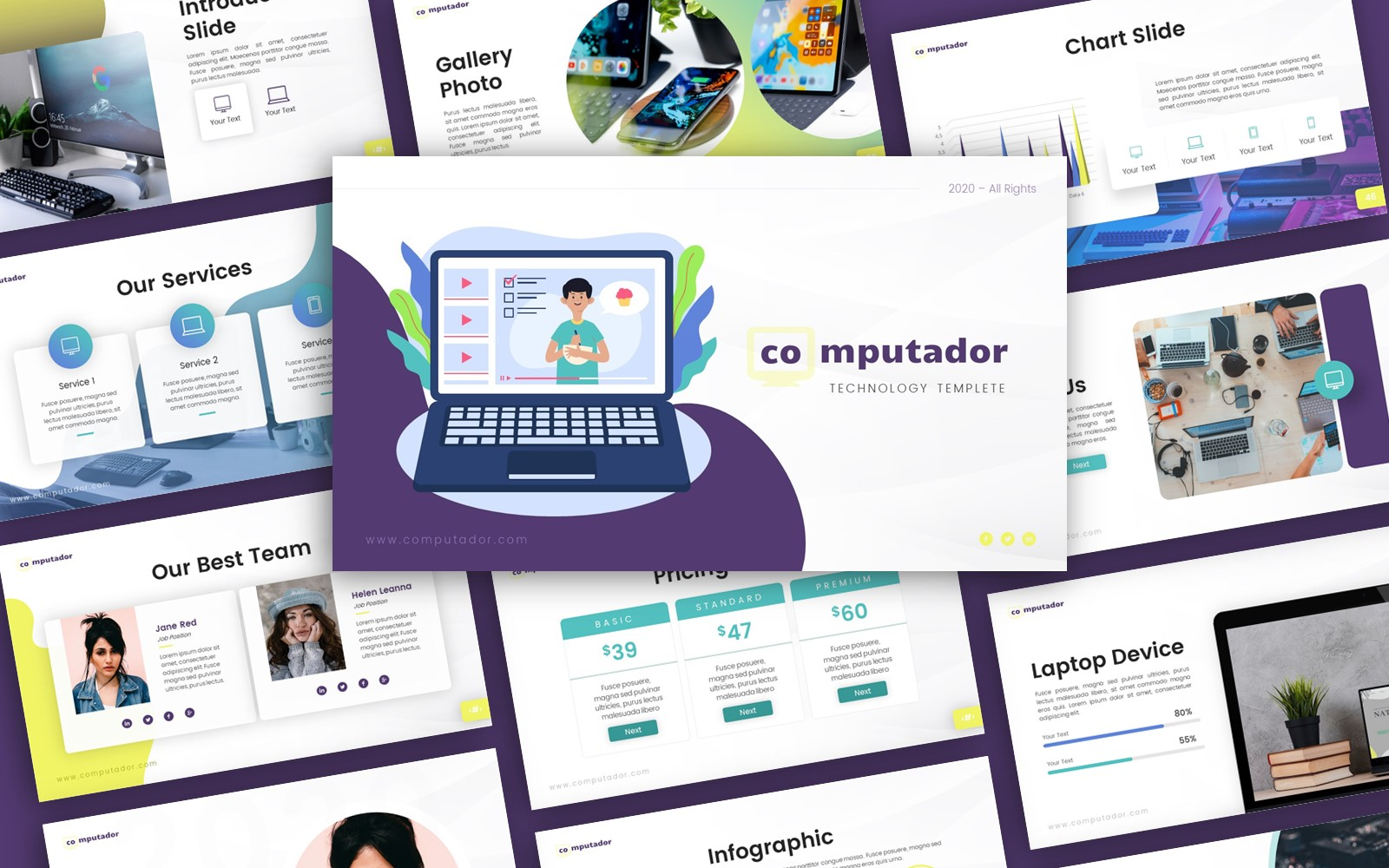Computador Technology Presentation Template PowerPoint №153529