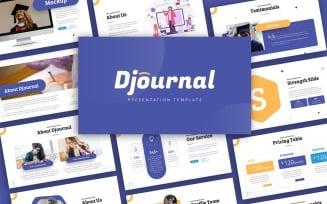 Djournal Education Presentation PowerPoint template