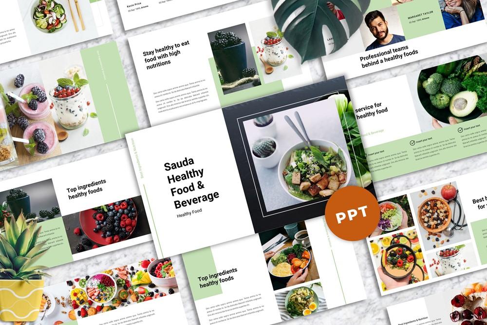 Sauda - PowerPoint-sjabloon voor eten en drinken
