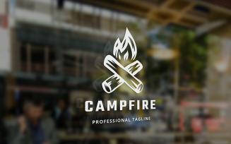 Camp Fire Logo Template