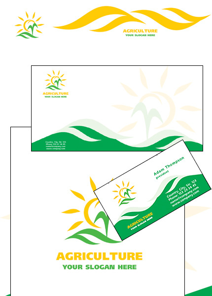 Agriculture Corporate Identity Template Vector Corporate Identity preview