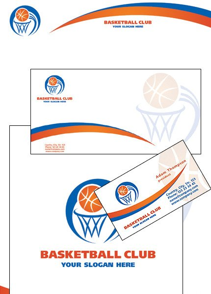 Basketball Corporate Identity Template Vector Corporate Identity preview