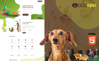 Dog Wak - Dog Walking Services Website Template