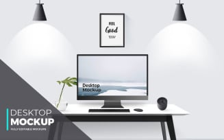 Desktop with Table product mockup