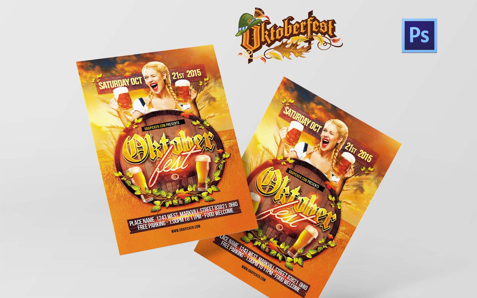 Oktoberfest Fest Party PSD sablon 154091