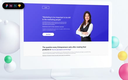 Growth Course Landing Page Template UI Element