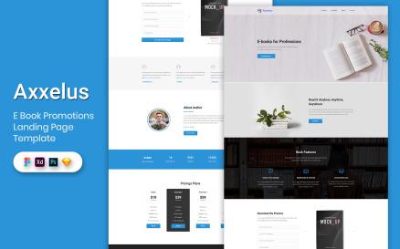 E-Book Promotion Landing Page Template-02 UI Element