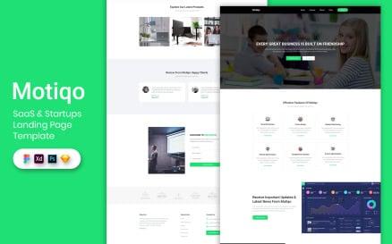 Saas & Startup Landing Page Template UI Element