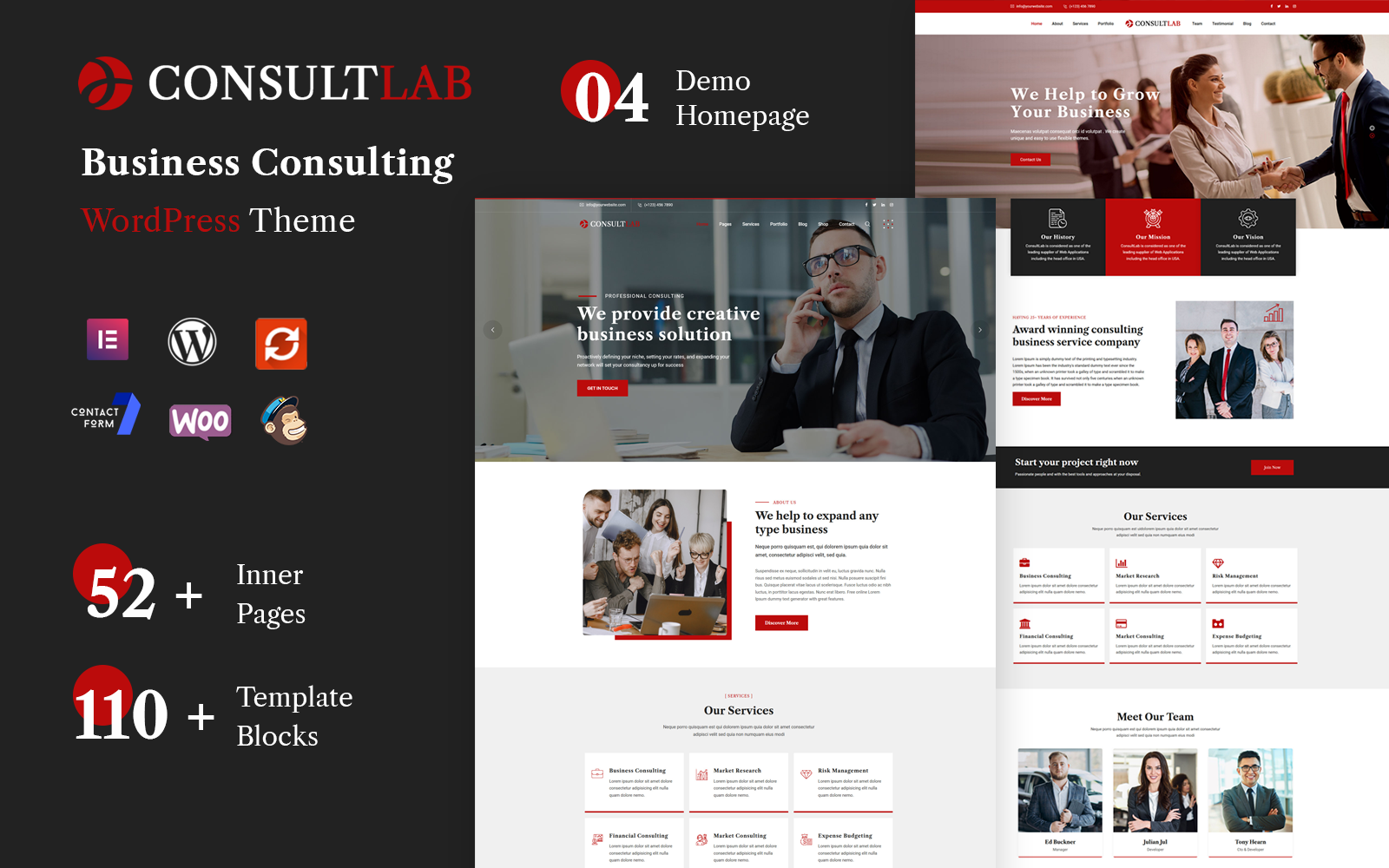 """Consultlab - Business Consulting"" Responsive WordPress thema №154104"