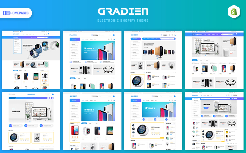 "Tema Shopify ""Gradien - Electronics & Warehouse"" #154102"