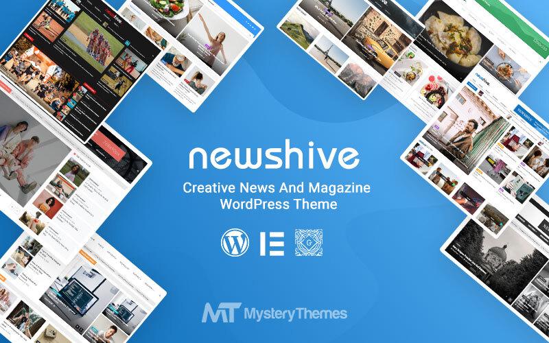 "Tema WordPress Responsive #154101 ""Newshive- Creative, Flexible Magazine, News Portal & Blog"""