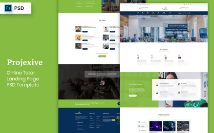 Online Tutors Landing Page Template UI Element