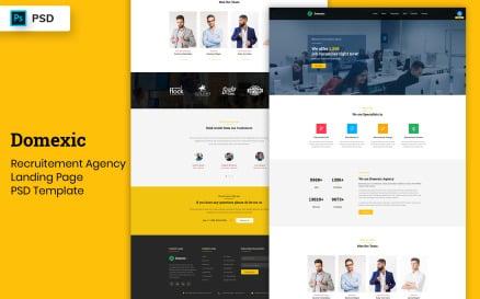 Recruitement Agency Landing Page Template UI Element