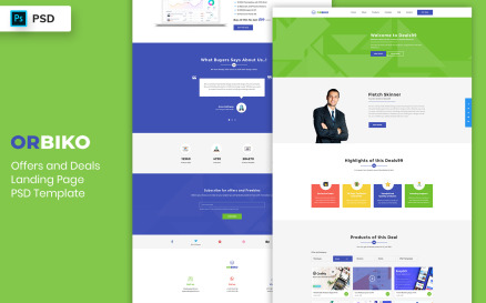 Offers & Deals Landing Page Template UI Element