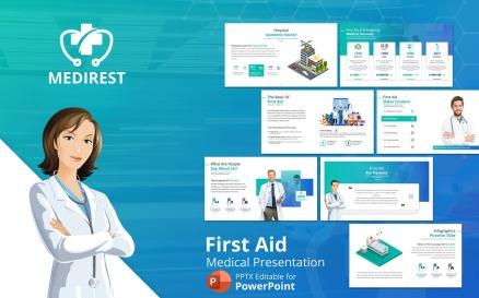 Medirest – First Aid Presentation PowerPoint Template