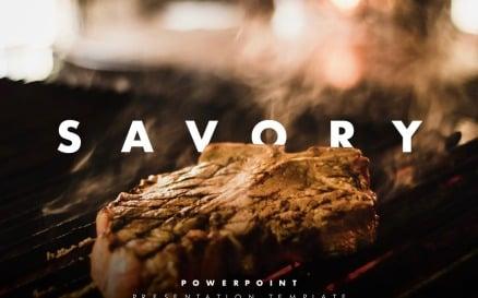 Savory – Modern Restaurant Presentation PowerPoint Template