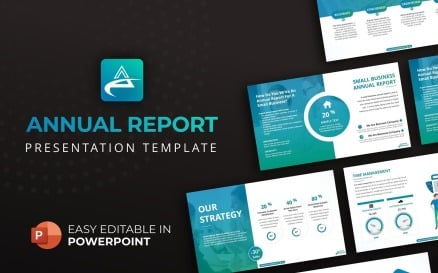 Annual Report Presentation PowerPoint Template