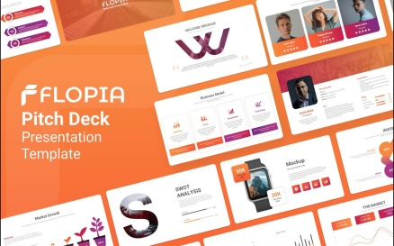 Flopia Pitch Deck Presentation PowerPoint Template