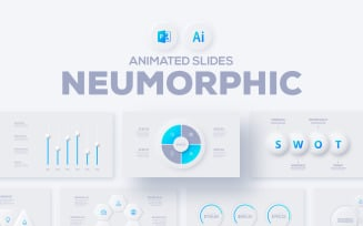 Neumorphic Presentation PowerPoint template