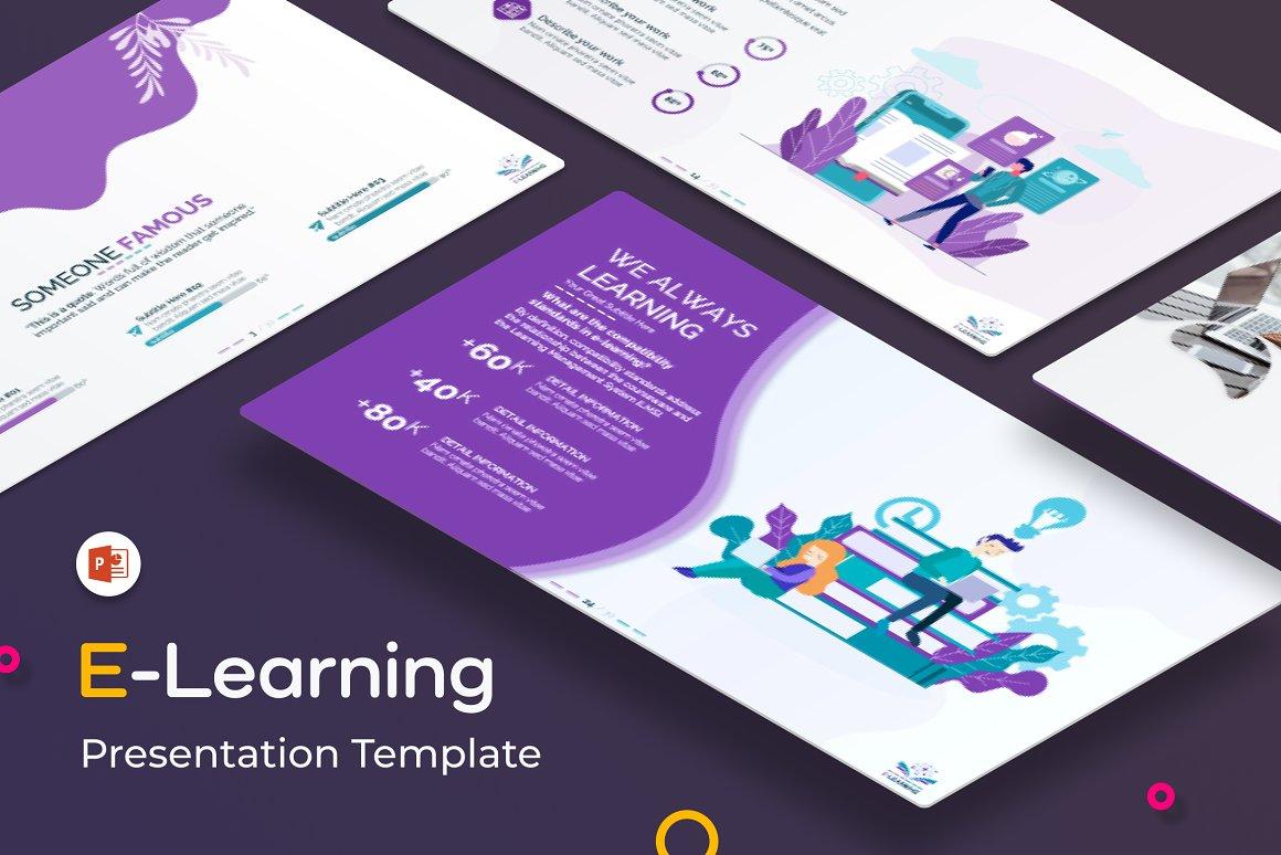 "PowerPoint šablona ""E-Learning Presentation  (Education PPT)"" #154264"