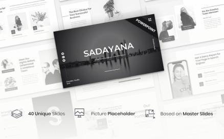 Sadayana - Creative Business Presentation PowerPoint template PowerPoint Template