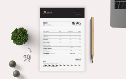 Minimal Invoice Corporate Identity