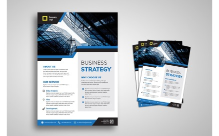 Flyer Template Business Strategy Corporate Identity